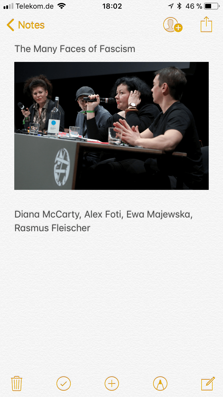 transmediale 2018 face value panel The Many Faces of Fascism