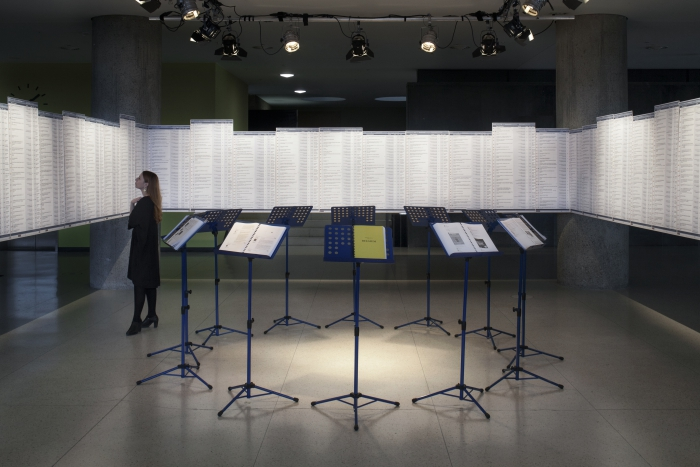 Hate Library, installation by Nick Thurston, exhibited at transmediale 2018 face value