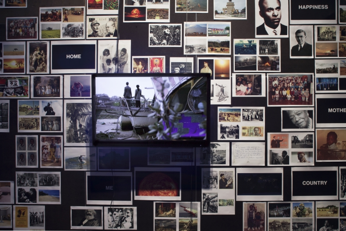 Finding Fanon by Larry Achiampong and David Blandy, exhibited at transmediale 2018 face value
