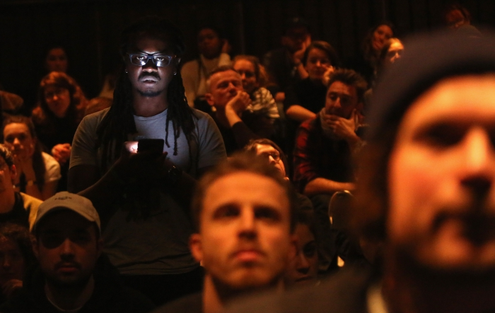 """Larry Achiampong at """"Unpacking Finding Fanon: Media Minerals"""", transmediale 2018 face value"""
