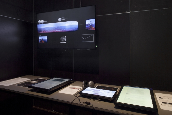 Blaming the Rescuers by Forensic Oceanography (Lorenzo Pezzani & Charles Heller), exhibited at transmediale 2018 face value.